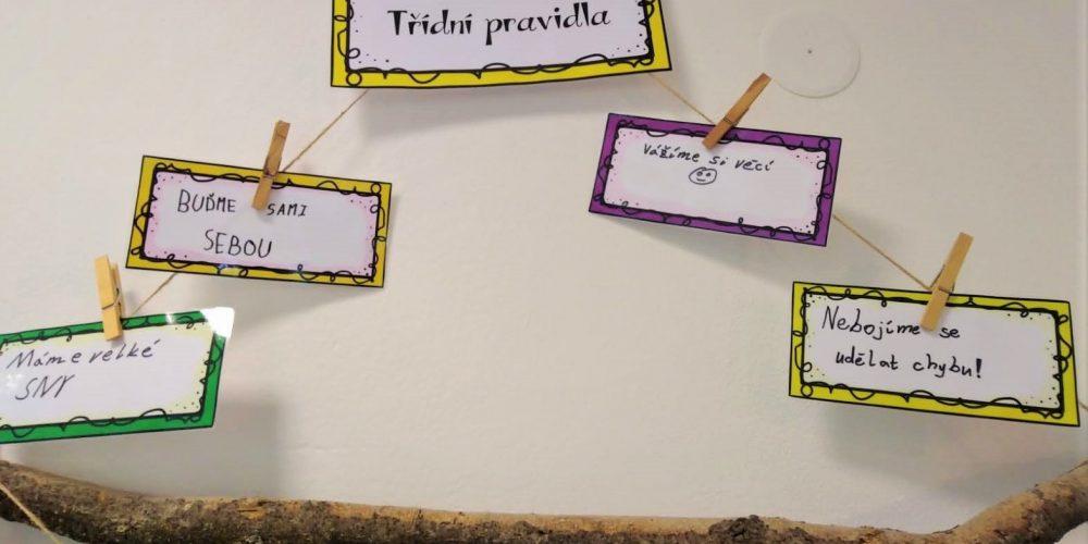 Tvorba třídních pravidel ZŠ Compass 5. třída